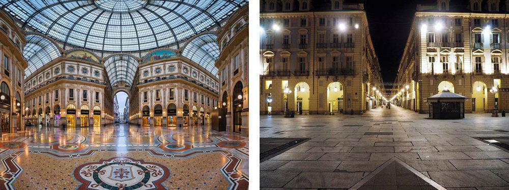Galleria Vittorio Emanuele II Milano VS Via Garibaldi Torino.