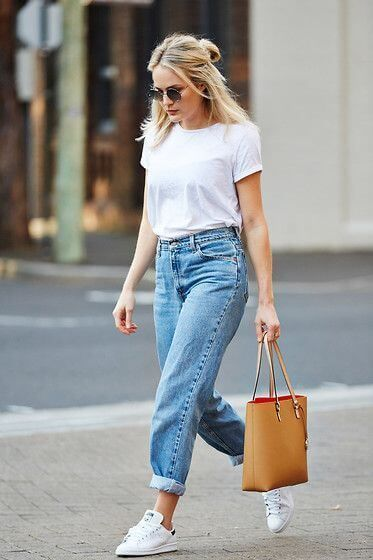 Outfit casual risvoltini ai jeans - Cuffs jeans casual outfit.