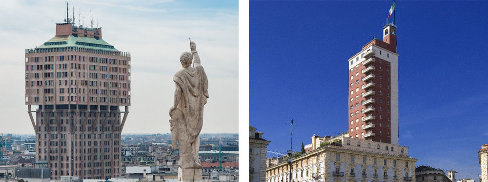 Torre Velasca e Torre Littoria.