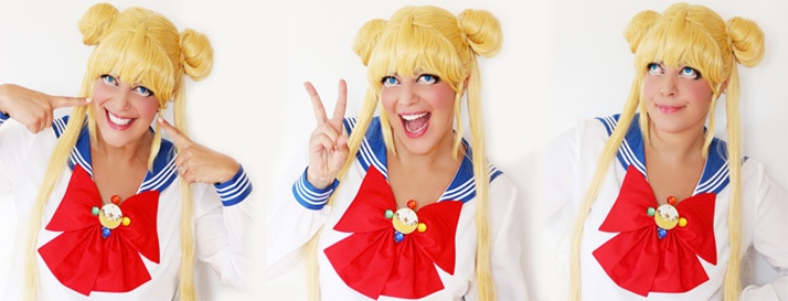 Luna Sailor Moon cosplay.