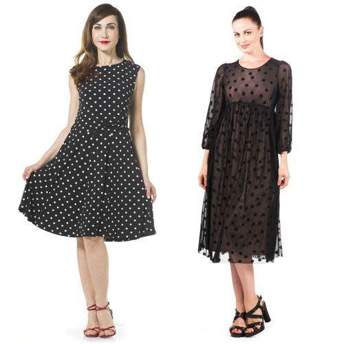 Polka dot dresses.