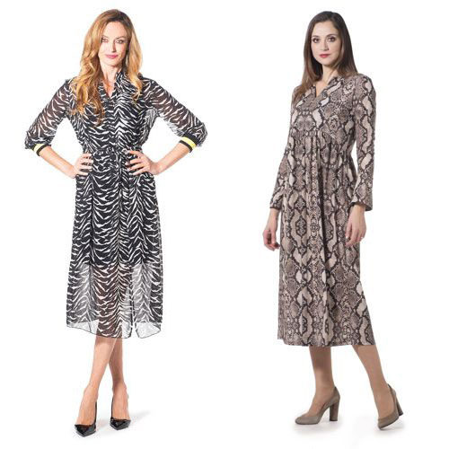 Animalier summer dresses.