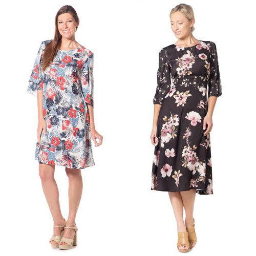 Summer floral  fashion dresses.