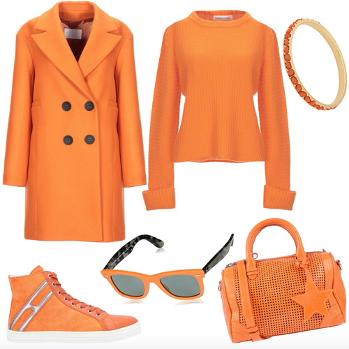 Dark Cheddar trendy seasonal colors fall winter 2019 outfit.