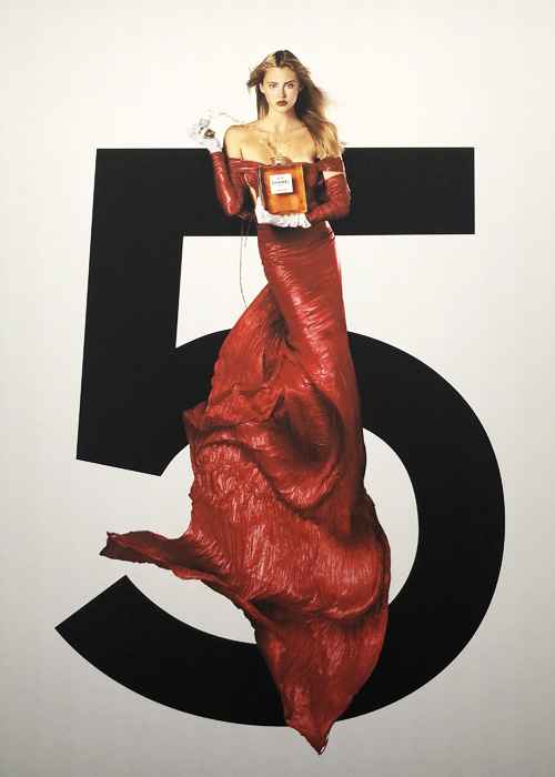 Chanel N°5, Estella Warren by event In Goude we Trust by Jean Paul Goude.