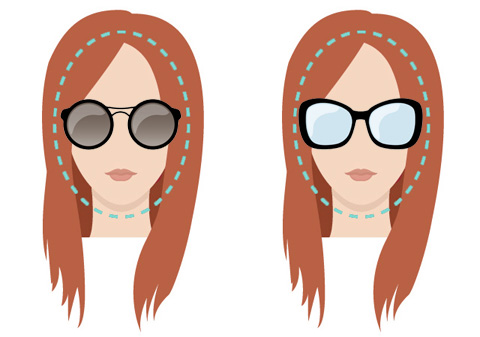 Models of glasses for oval face.