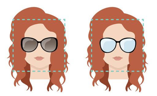 Modelli di occhiali per viso forma quadrata.