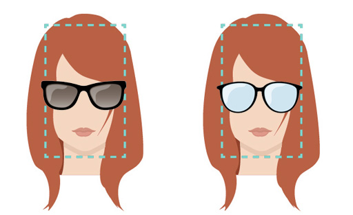 Models of glasses for rectangular face.