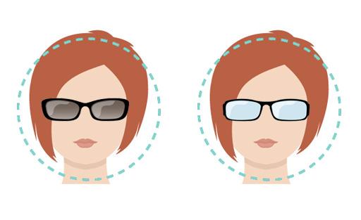 Modelli di occhiali per viso forma rotonda.
