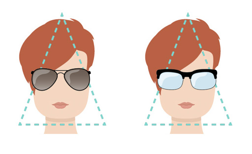 Models of glasses for face triangular shape.