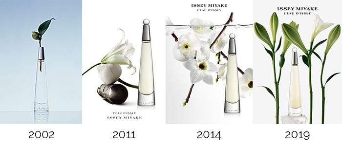 L'Eau d'Issey perfume over time.