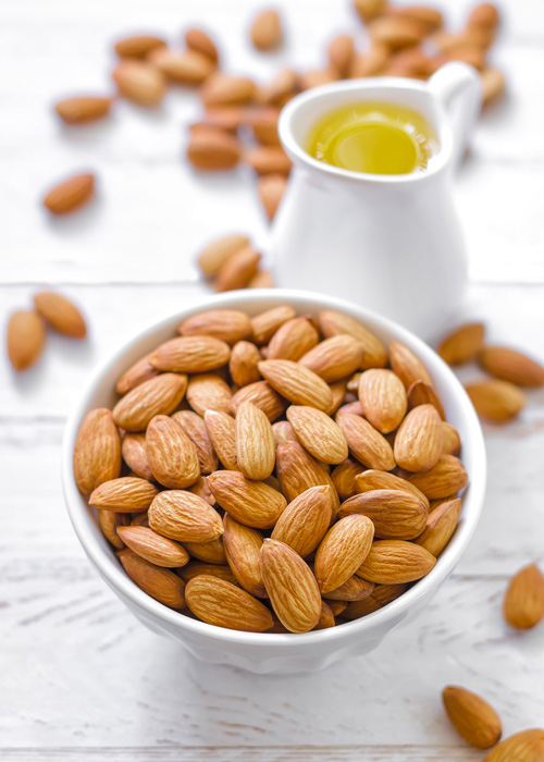 Benefits and properties of almond oil.