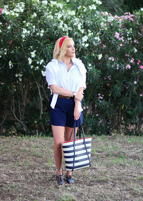 Preppy personal style look.