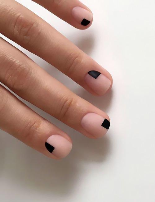 Minimal nail art.