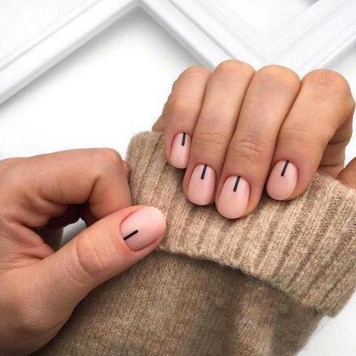 Simple nail art.