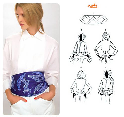 Come realizzare una cintura con un foulard.