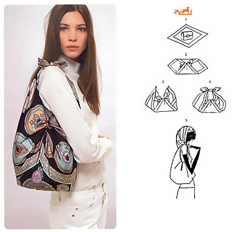 Come fare una borsa con un foulard.