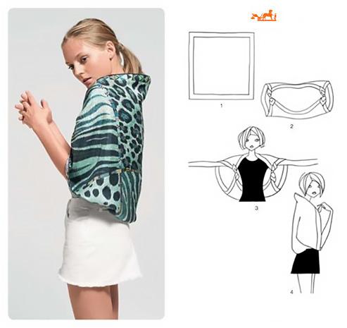 Come creare un coprispalle con un foulard.