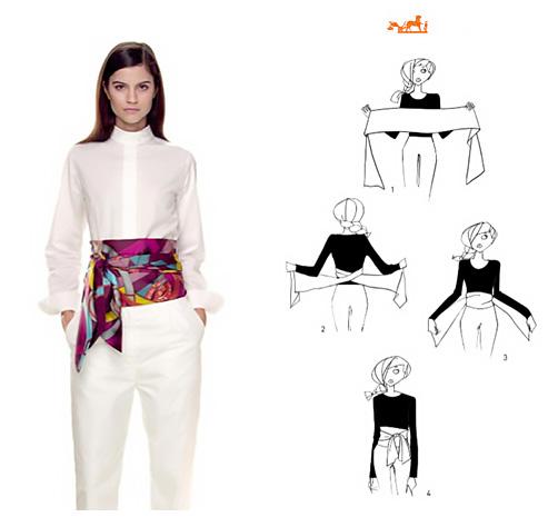 Come indossare un foulard a cintura.