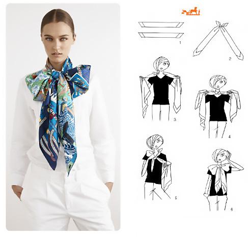 Come fare un fiocco con il foulard.