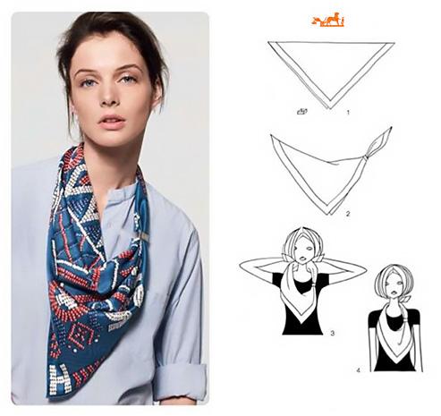 Come personalizzare un foulard indossato al collo.