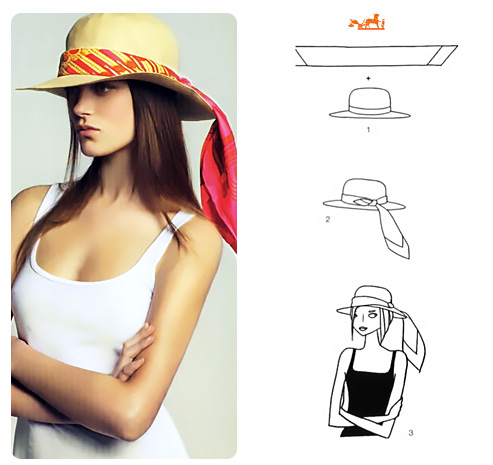 how to wear a scarf with a hat.