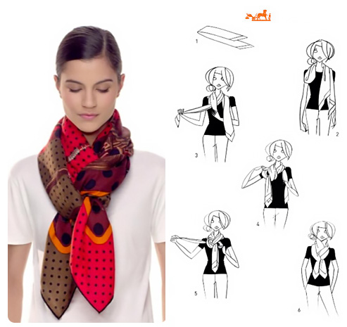 Come indossare una sciarpa foulard in tanti modi diversi.