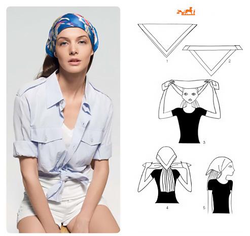 Come indossare un foulard in testa  in tanti modi diversi.