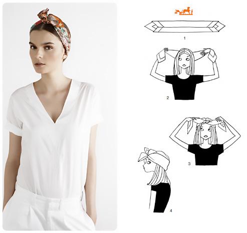Come indossare un foulard in stile bandana.
