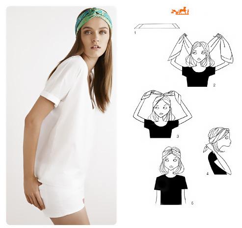 Come fare il turbante con un foulard.