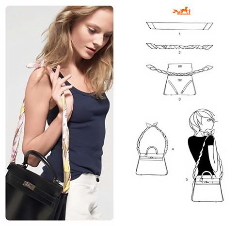 Come personalizzare la borsa con un foulard.