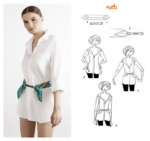 Come fare una cintura con un foulard.