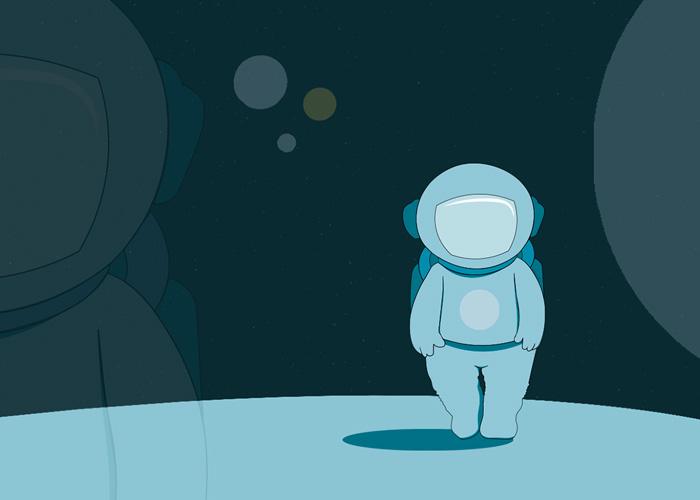 Astronaut illustration.
