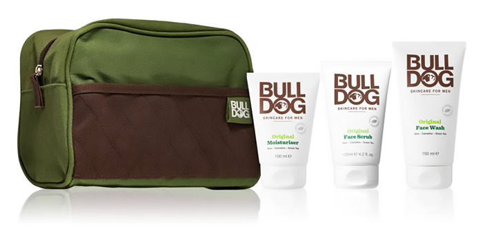 Regali di Natale beauty uomo: kit cura del viso Bulldog Original.