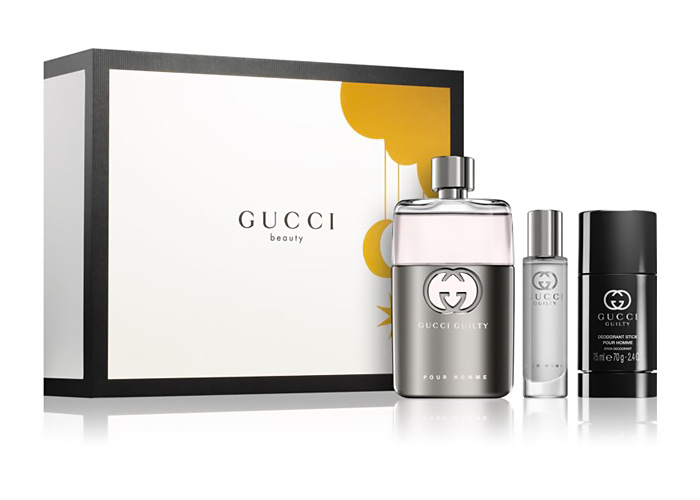 Regali di Natale beauty: confezione regalo Gucci Guilty pour Homme.