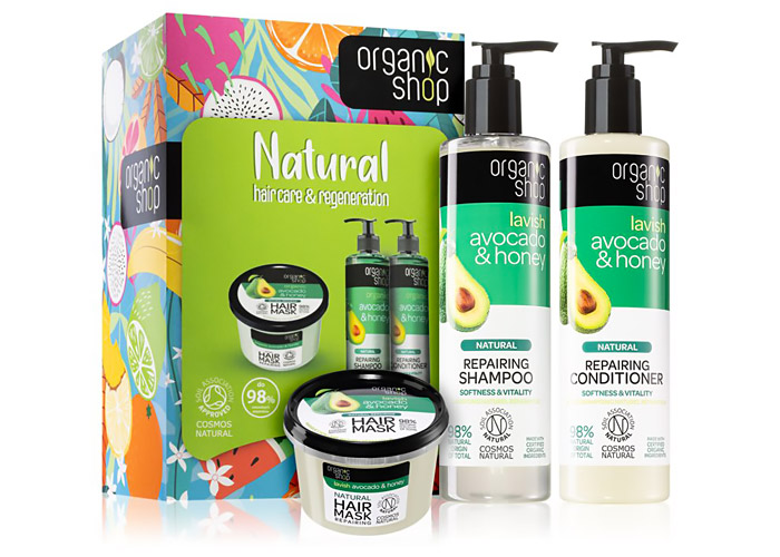 Confezione regalo Organic Shop natural hair care.