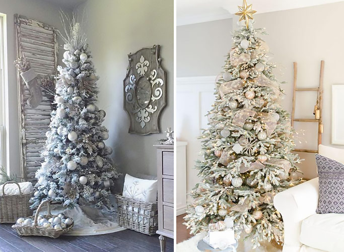 Shabby Chic Christmas tree.