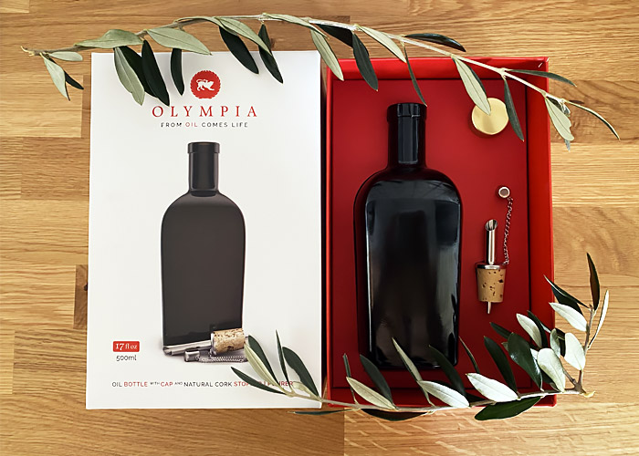 Oil bottle made in Italy OLYMPIA.
