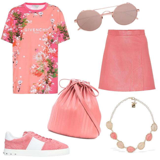Idea outfit color corallo bruciato.