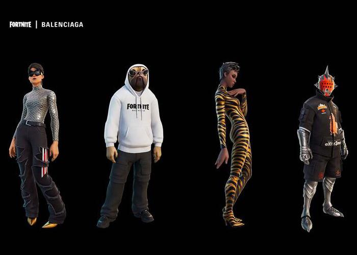 Costumi del set Balenciaga Fit disponibili su Fortnite.