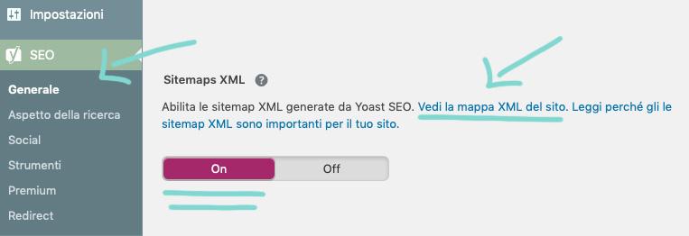 Come creare Sitemap con plugin Yoast SEO.