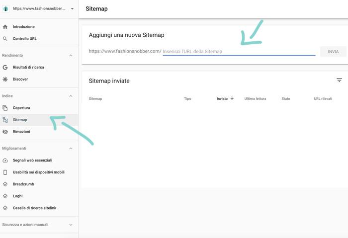 Come inviare Sitemap a Google.